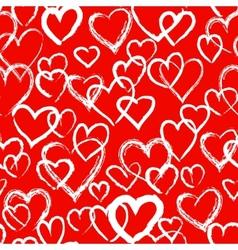 Hearts seamless pattern vector
