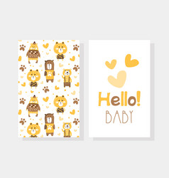 hello bacard template front and back side vector image