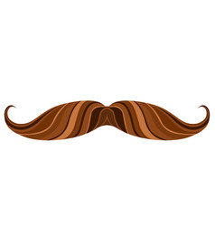 hipster mustache icon vector image