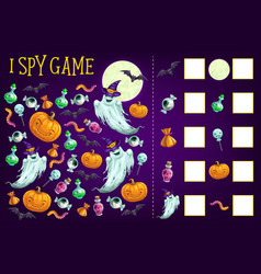 i spy game template find halloween objects vector image