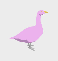 In flat style goose vector