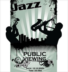 Jazz musician silhouettes vector