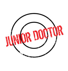 Junior doctor rubber stamp vector