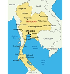 Kingdom of Thailand - map vector