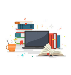 knowledge online education vector image