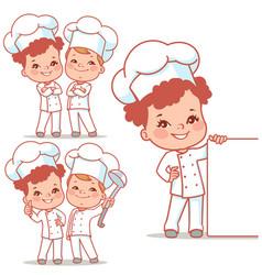 Lkids as little chefs vector