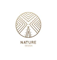 logo abstract tree vector image