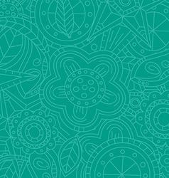 magenta floral flower pattern doodle vector image