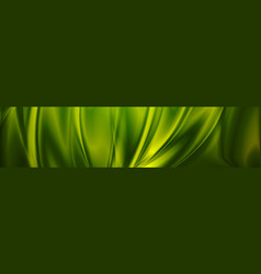 magic emerald green smooth waves banner design vector image