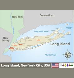 Map long island vector