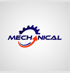 mechanical gear logo design symbol vector image