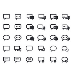 Message speech bubbles talk icons vector