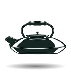 Monochrome kettle sign vector
