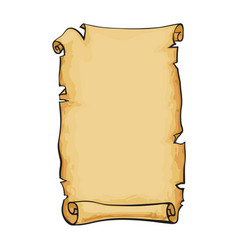 Old paper scroll vector