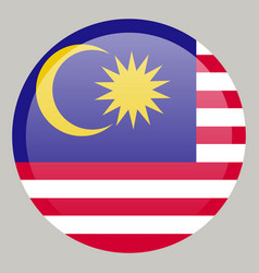 Original and simple malaysia flag isolated in vector