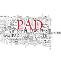Pad word cloud concept vector