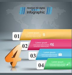 paper busines infographic - origami style on the vector image