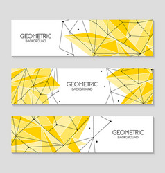 polygonal abstract futuristic yellow template low vector image