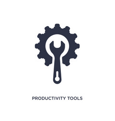 Productivity tools icon on white background vector