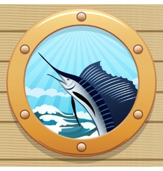 sail fish vector image