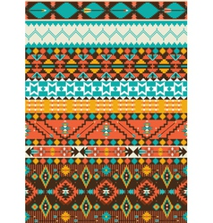 Seamless navajo geometric pattern vector