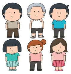 Set of children vector