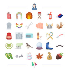 Shopping traveling cooking and other web icon in vector