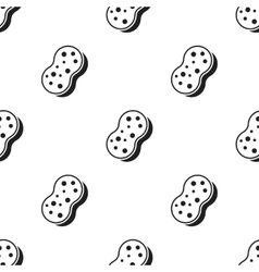 Sponge black icon for web and mobile vector image