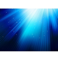 Stars on blue striped background EPS 10 vector image