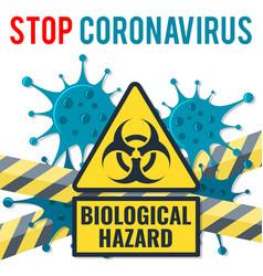 stop 2019-ncov coronavirus concept vector image