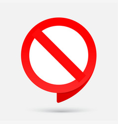 stop red sign no entry sign prohibition symbol vector image