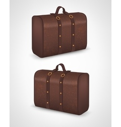 Suitcase for traveling on isolated background vector