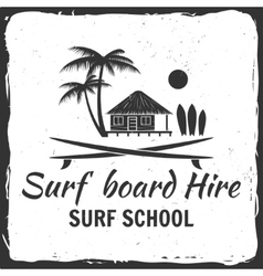 Surf board hire concept vector image