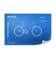 Technical with bicycle drawing vector image