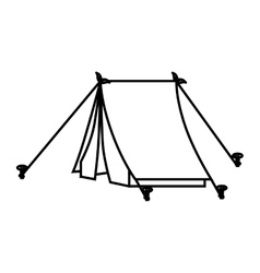 Tent camp object icon design vector