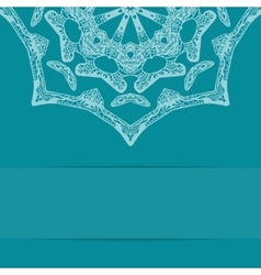 Turquoise blue card with ornate pattern and copy vector