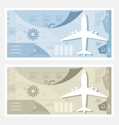 two kinds of airport banner vector image