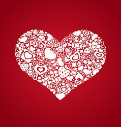 Valentites heart objects white vector