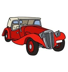 Vintage red cabriolet vector