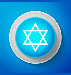 white star of david icon jewish religion symbol vector image