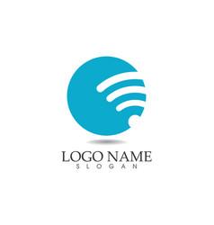 Wifi logo template icons app vector