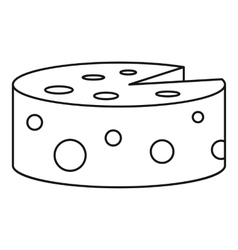 Cheese icon outline style vector image