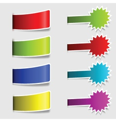 Collection of colorful labels vector image vector image