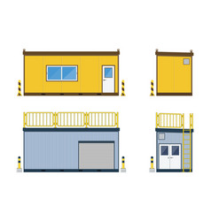 Container office construction site with container vector