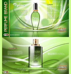 digital green glass perfume vector image