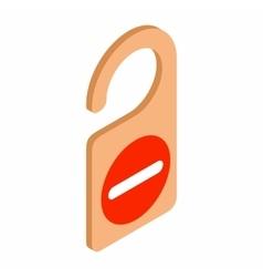 Do not disturb door hangers vector image