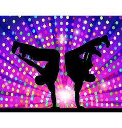 figure silhouetted in the dance by the light vector image