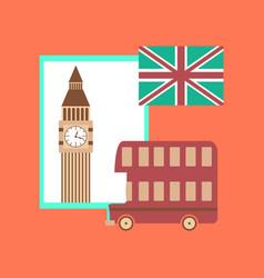 Flat icon on stylish background united kingdom set vector