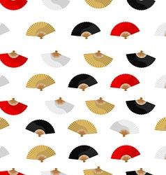 Folding fan pattern vector image