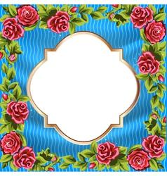 frame rose border vector image vector image